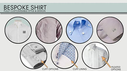 options for custom tailored shirts