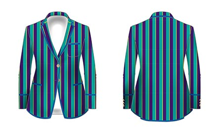 design your own striped rowing blazer