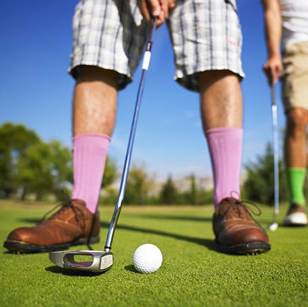 Clashing colours area a tradition on the golf course