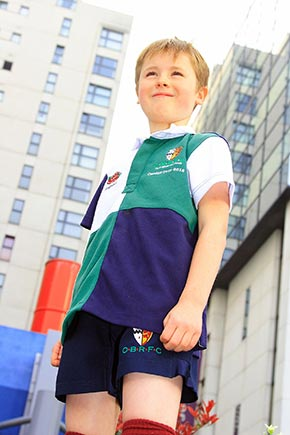 Rugby jerseys in dedicated children's sizes