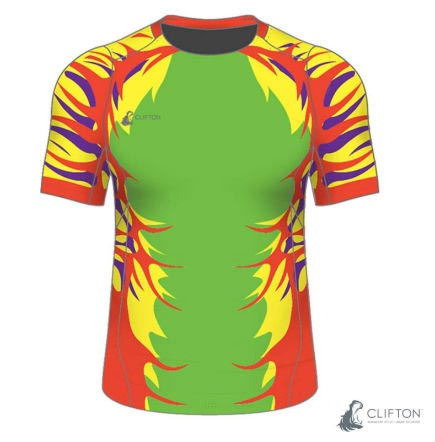 A bold design for a custom rugby jersey