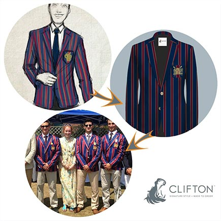 we can help you design your striped rowing club blazer