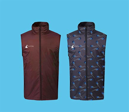 A custom golf gilet won't get in the way of your swing