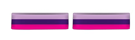 Print retro strips headbands in your company colours