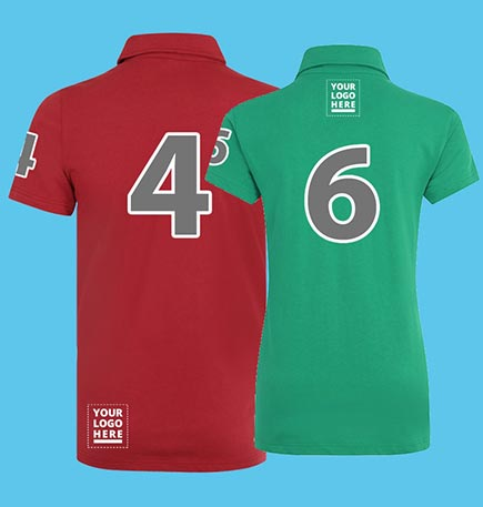 Jersey Polo Shirts With Polo Numbers For Equestrian Polo