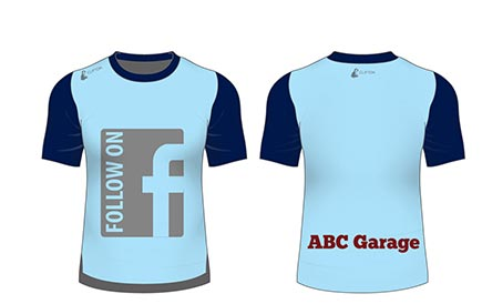 Use your Facebook name instead of your web address on your custom running t-shirt