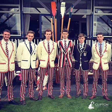 Order traditional striped rowing blazers