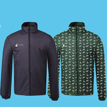 Customised waterproof running jackets make training easier