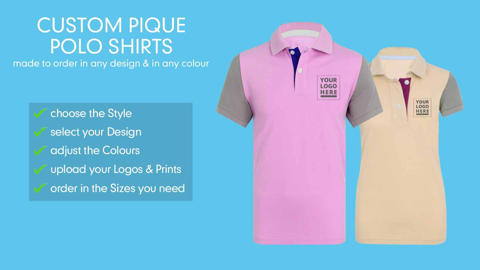 ed53bbf48 Customise Our Classic Pique Polo Shirt | CLIFTON