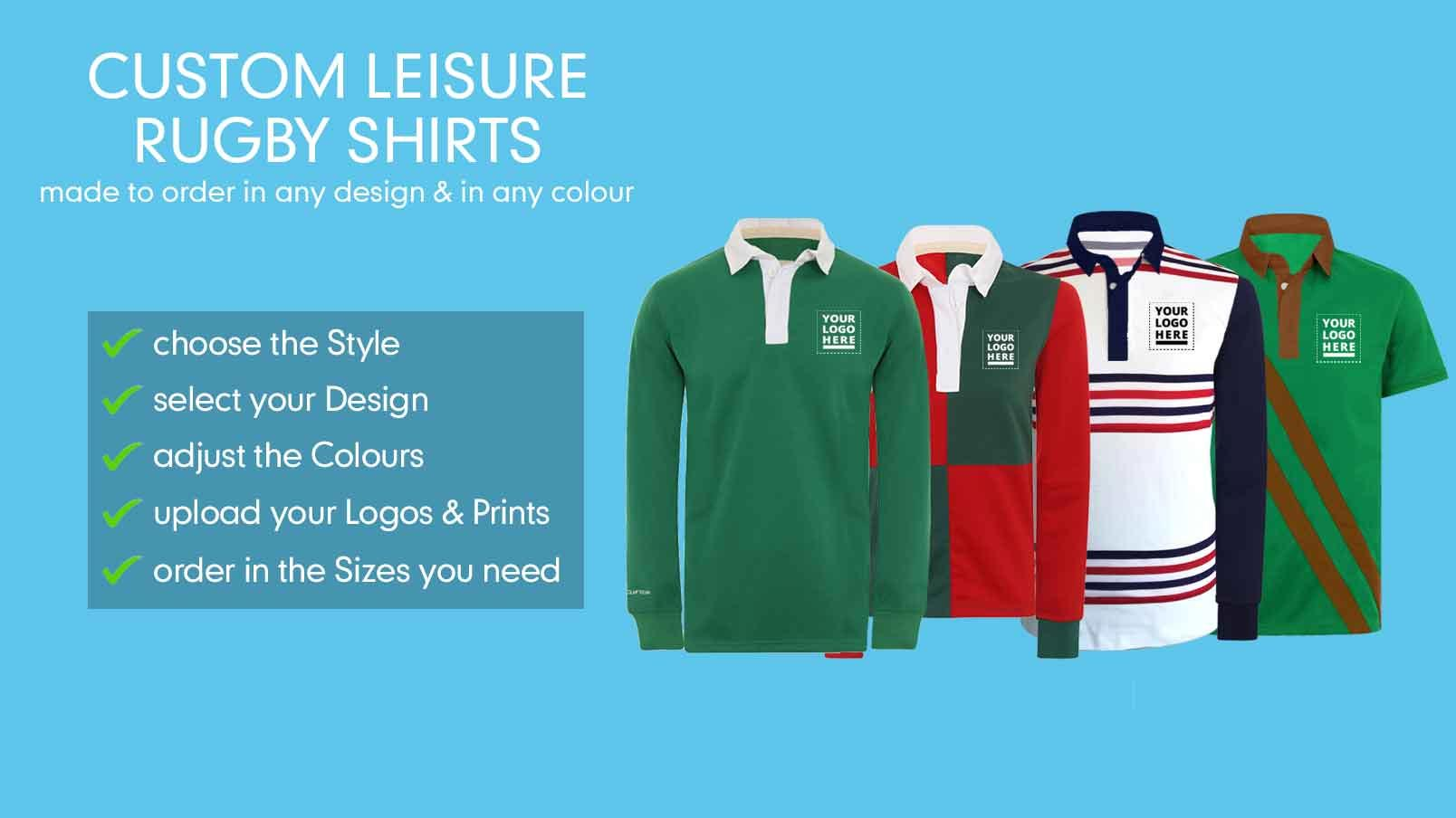 45ac35d6b Custom Retro Look Leisure Rugby Jersey