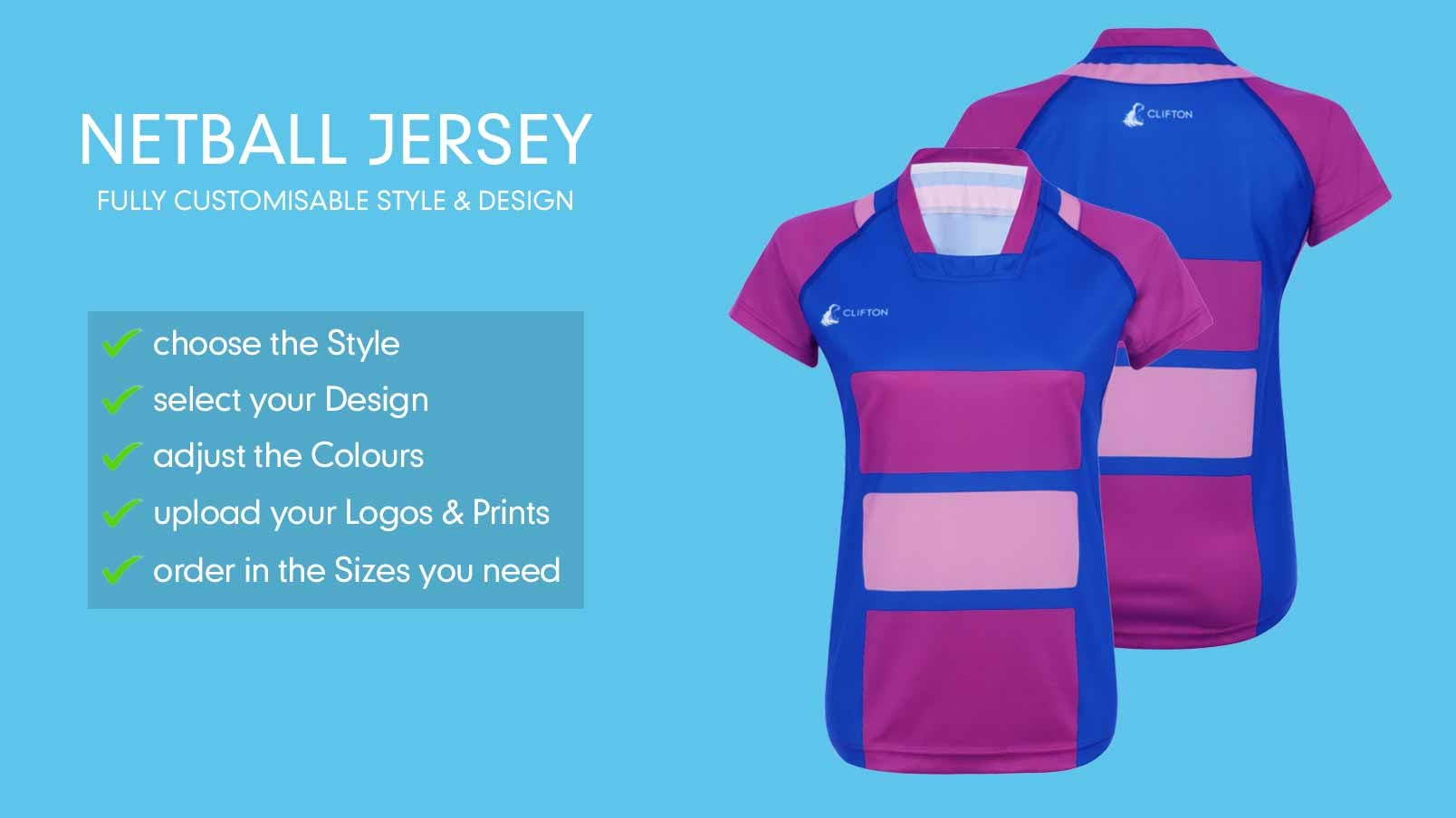 9a0e9f0a731 Design Your Netball Team Jerseys Online
